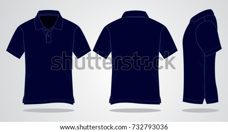 navy blue polo shirt for