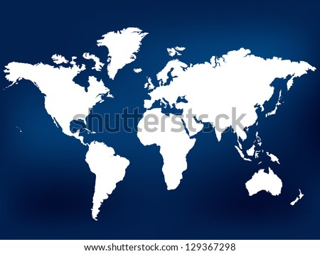 Navy Blue World Map. Vector Illustration. Also see other available colors. - stock vector