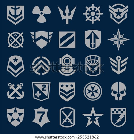 navy military symbol icons