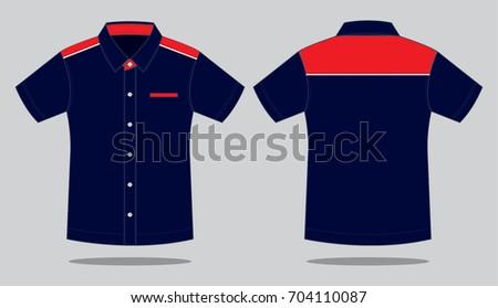 Navy / red Uniform shirt design