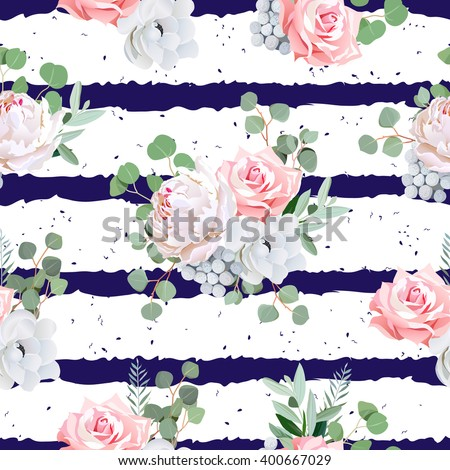 navy striped print with