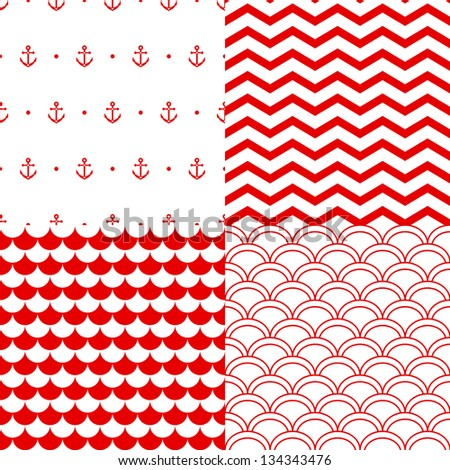 navy vector seamless patterns