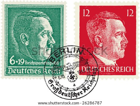 nazi stamps  adolf hitler
