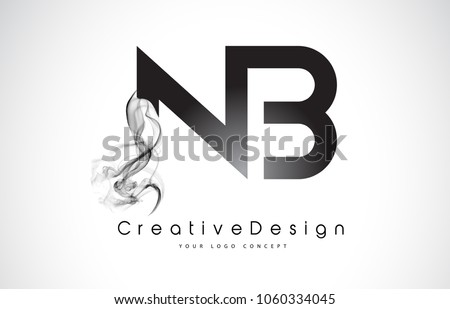 nb letter logo design with
