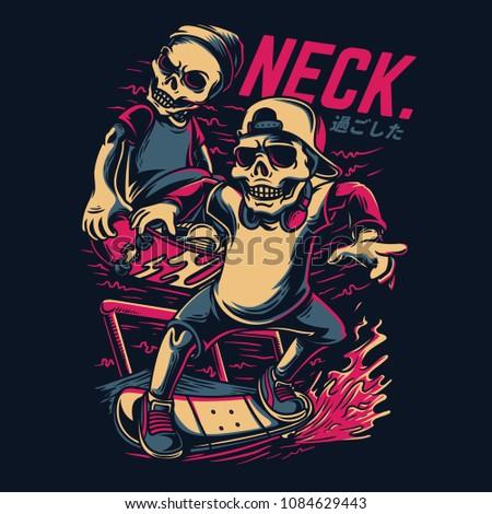 neck inc illustration