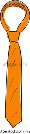 Neck tie cartoon sketch vector illustration