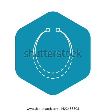 Necklace accessory icon. Outline necklace accessory vector icon for web design isolated on white background