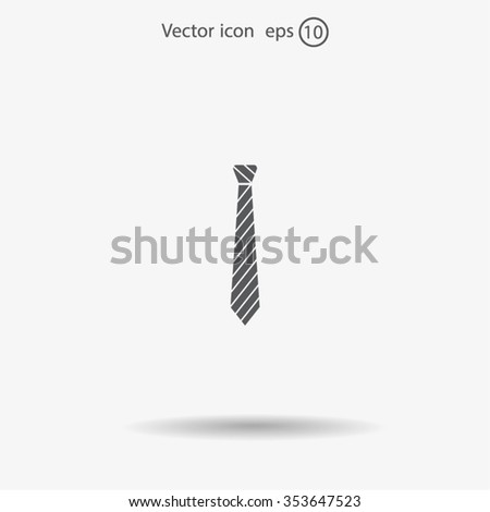 Necktie icon - Vector #353647523