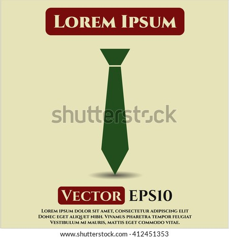 Necktie vector icon