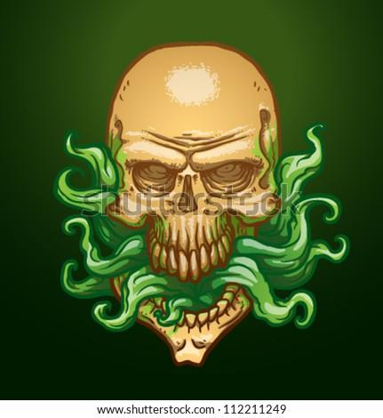 necromancer skull  vector 02
