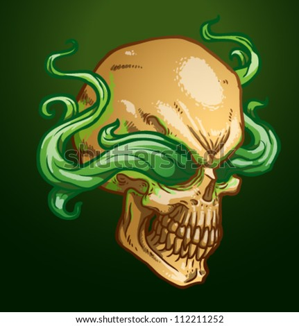 necromancer skull  vector 01