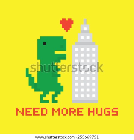 need more hugs t rex and
