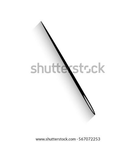 needle icon   black vector