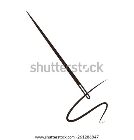 needle with thread isolated on