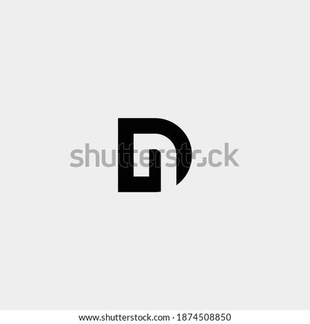 Negatif logo Letter D DN vector design  Stok fotoğraf ©