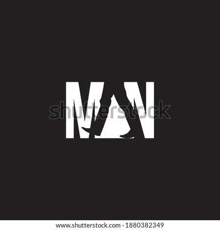 Negatif space of man vector design Stok fotoğraf ©