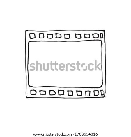 negative film isolated on white