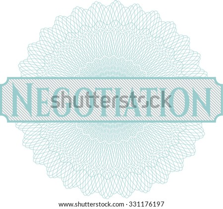 Negotiation abstract linear rosette