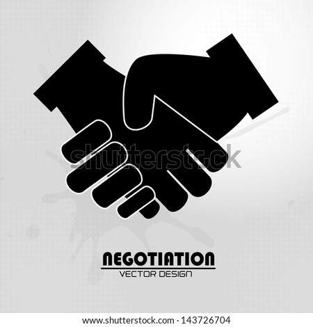 negotiation icon over gray background vector illustration