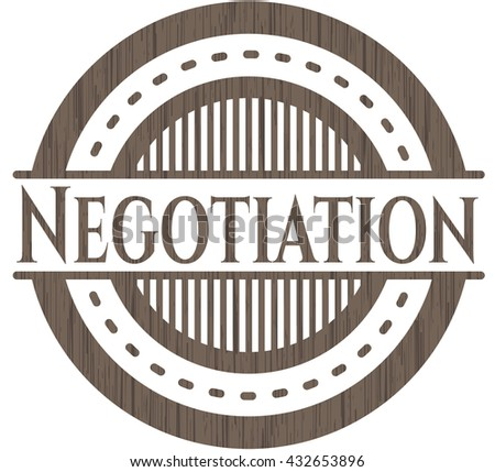 Negotiation realistic wood emblem