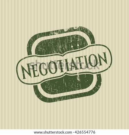 Negotiation rubber stamp