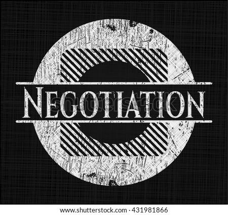 Negotiation written on a chalkboard