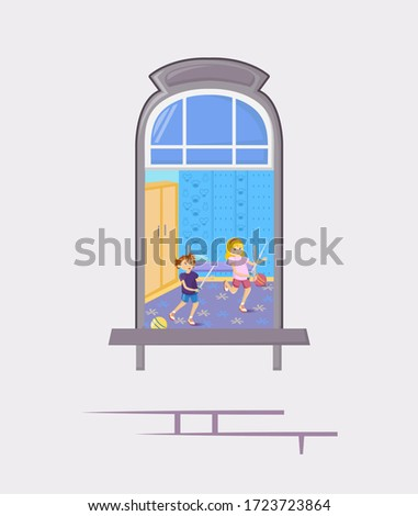 neighbors in windows of old