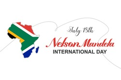 Nelson Mandela International Day. Holiday concept. Template for background, banner, card, poster, t-shirt with text inscription, vector eps 10