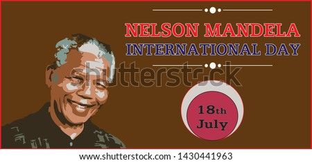 Nelson Mandela International Day 18th July Vector