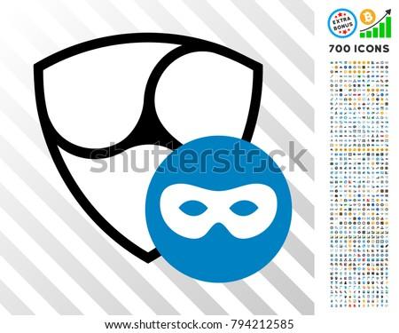 nem anonymous icon with 7