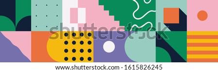 neo modernism artwork pattern