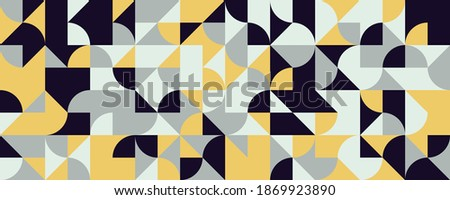 Neo Modernism artwork pattern made with abstract vector geometric shapes and forms. Simple form bold graphic design, useful for web art, invitation cards, posters, prints, textile, backgrounds. Stock fotó ©