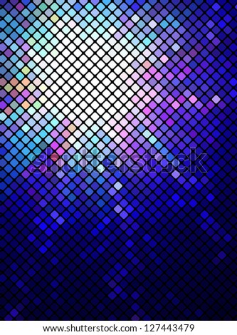 Neon abstract mosaic design on dark vector background