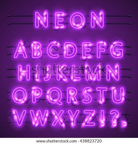 neon banner text neon font