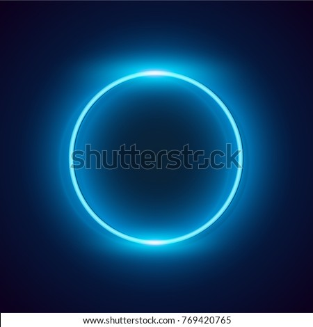 neon blue circle background
