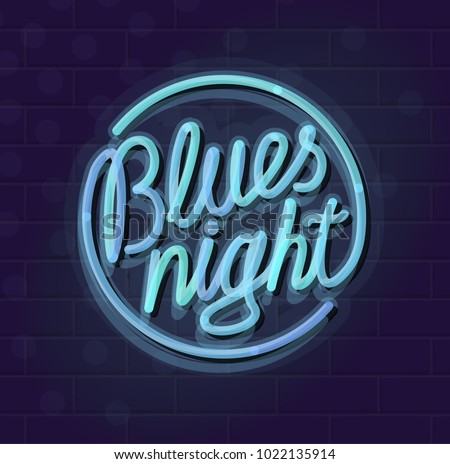 neon blues night round