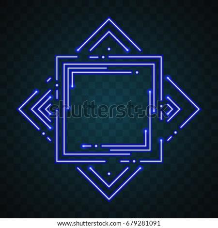 Neon border design #679281091