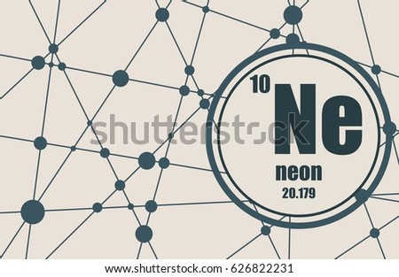 Neon periodic table download free vector art stock graphics images neon chemical element sign with atomic number and atomic weight chemical element of periodic urtaz Images