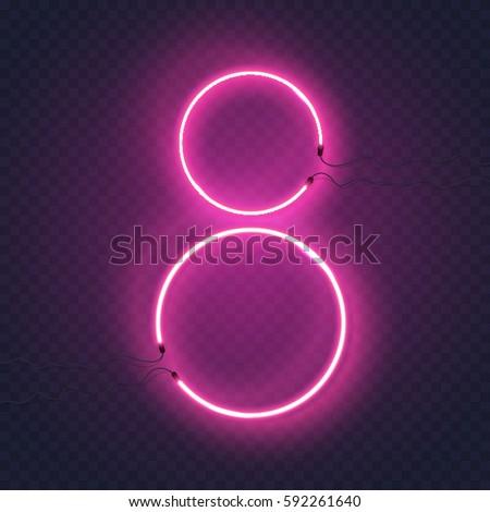 neon circle lamps wall sign