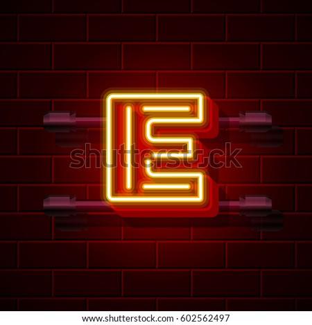 neon city font letter e