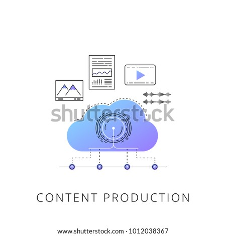 neon content production vector