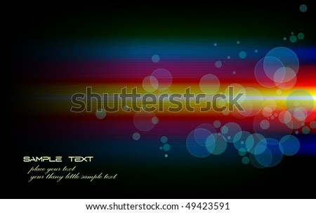 Neon Design - Vector Background With Transparent Lights - stock vector