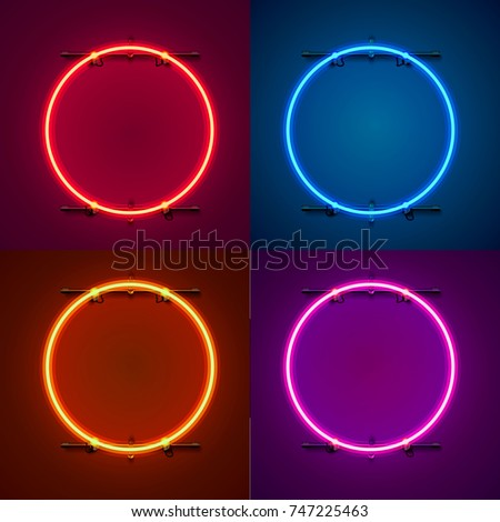 neon frame sign in the shape of
