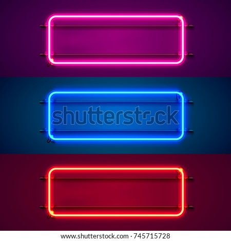 neon frame sign in the shape of ...