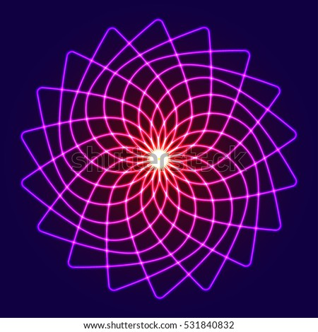 neon glow symmetry element