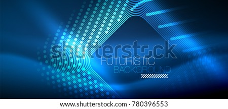 stock-vector-neon-glowing-techno-lines-blue-hi-tech-futuristic-abstract-background-template-with-square-shapes