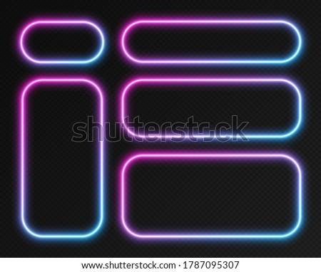 neon gradient frames set