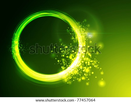neon green circles background