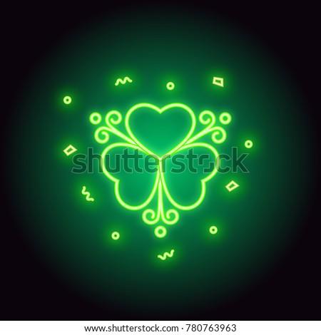 neon green shamrock sign
