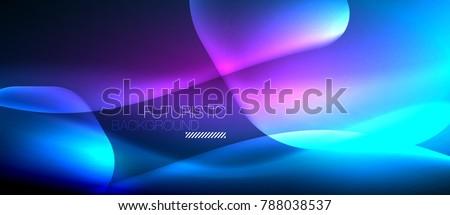 Neon hexagon vector abstract background